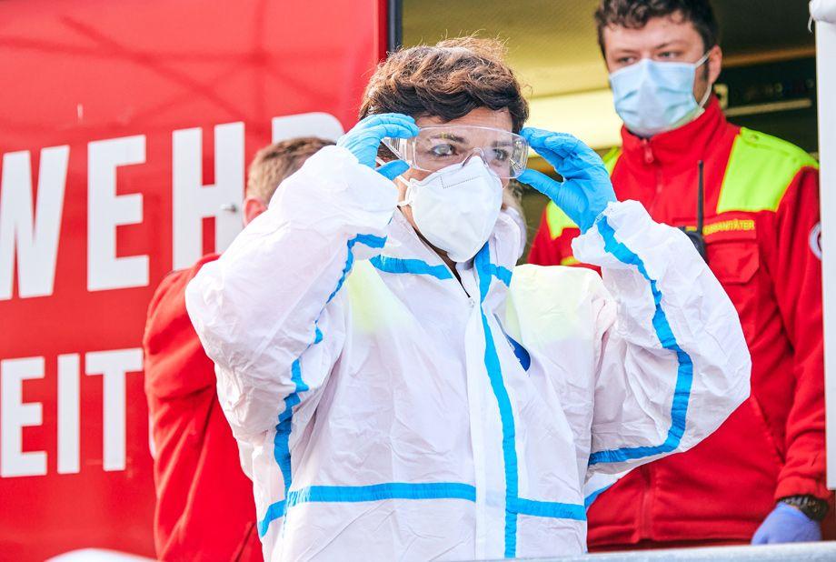 Dr. Pamela Rendi-Wagner  engagiert sich ehrenamtlich beim Samariterbund (Fotos: Visnjic)